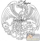 100个中国传统吉祥图-矢量图-凤翥鸾翔-B-015-中国图片