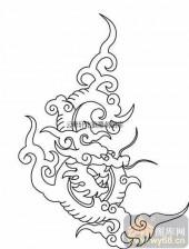 100个中国传统吉祥图-矢量图-活龙鲜健-B-009-传统图案