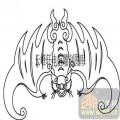 100个中国传统吉祥图-矢量图-蝙蝠-B-006-传统图案