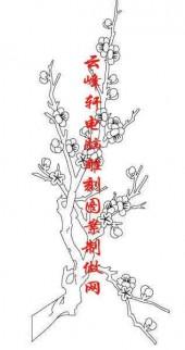 梅兰竹菊-白描图-梅花-mlxj051-梅兰竹菊国画白描