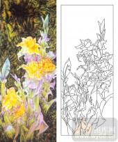 玻璃雕刻-肌理雕刻系列1-野花烂漫-00116