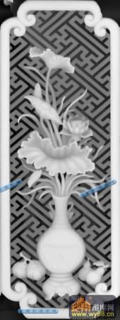 01-花瓶-018-花鸟浮雕灰度图