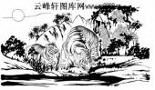 虎第五版-矢量图-踞虎盘龙-1-虎雕刻图片