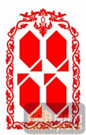 中式镂空装饰001-几何图案-中式镂空装饰001-001-雕花板