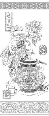 竖板81,花瓶