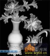 多宝格-花瓶-005-多宝格雕刻灰度图