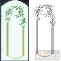 02装饰门-2-竹叶门-00124-玻璃雕刻