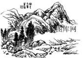 09年3月1日第一版画山水-矢量图-西山日薄-29-山水全图