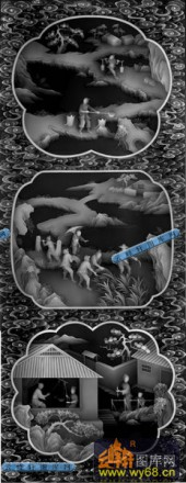 01-童子-049-浮雕灰度图