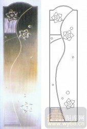 雕刻玻璃-浮雕贴片-小花朵-00064