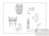02古文化系列-负衡据鼎-00098-雕刻玻璃图案