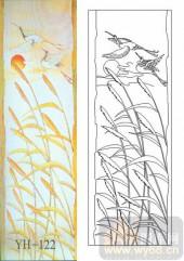 喷砂玻璃-肌理雕刻系列1-远行-00122