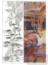 2011设计艺术玻璃刻绘-叶子a-艺术玻璃