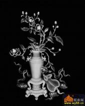 八宝014-牡丹-026牡丹-浮雕灰度图