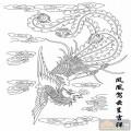 凤-矢量图-凤凰驾云-huangf009-中国传统凤图
