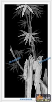04-竹叶-094-花鸟精雕灰度图