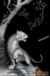 01-老虎-123-玉雕浮雕灰度图