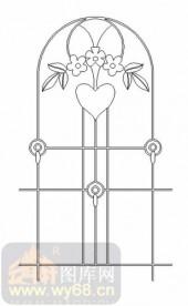 雕刻玻璃图案-11门窗组合-艺术花-00079