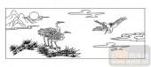 01传统系列-夕鹤-00005-装饰玻璃
