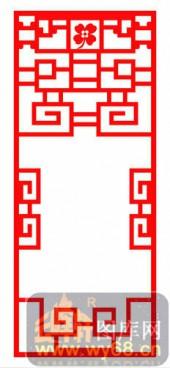 镂空装饰单式002-古花纹-镂空装饰单式002-003-装修效果图