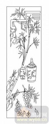 02古文化系列-葡萄竹子-00087-雕刻玻璃