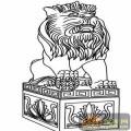 门狮子-矢量图-吉祥门狮3-中国国画矢量门狮