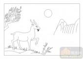 03动物系列-羊-00071-玻璃门