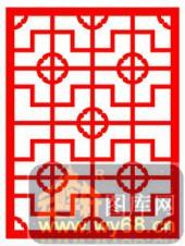 镂空装饰单式002-十字花纹-镂空装饰单式002-004-装修效果图