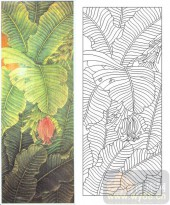 喷砂玻璃图库-肌理雕刻系列1-芭蕉红-00056