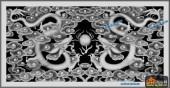 01-二龙戏珠-048-龙凤浮雕灰度图