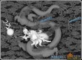 03-龙戏-035-浮雕灰度图