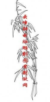 梅兰竹菊-白描图-竹林-mlxj017-梅兰竹菊白描图