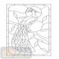 艺术玻璃-12镶嵌-孔雀-00121