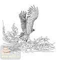 装饰玻璃-13壁画、大屏风-雄鹰展翅-00021