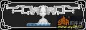 蝙蝠鱼-蝙蝠-016-蝙蝠鱼灰度图案