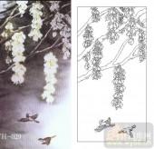 喷砂玻璃图库-肌理雕刻系列1-灯笼花-00029