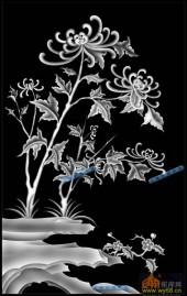 04-山菊-059-花鸟浮雕图库