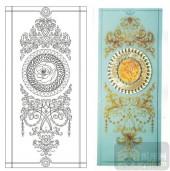 2011设计艺术玻璃刻绘-玉露金枫-装饰玻璃