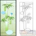 02装饰门-2-翠竹-00004-雕刻玻璃图案
