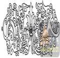 100个中国传统吉祥图-矢量图-贯斗双龙-B-010-传统图案