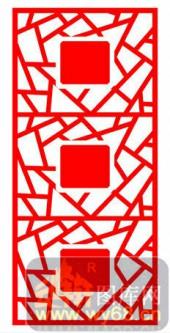 镂空装饰单式001-蝙蝠花纹-镂空装饰单式001-015-镂空屏风效果图