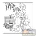 16古典人物-遛狗-00056-玻璃门