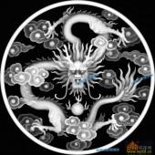 03-龙戏-025-龙凤浮雕图库