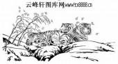 虎第五版-矢量图-鹰扬虎视-9-虎雕刻图片
