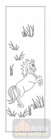 03动物系列-汗马之功-00087-艺术玻璃图库