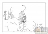 03动物系列-畏之如虎-00065-装饰玻璃