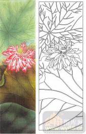 05肌理雕刻系列样图-红莲花-00169-艺术玻璃图库