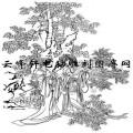 锦瑟年华-白描图-5相思图-国画仕女图
