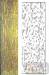 雕刻玻璃-肌理雕刻系列1-黄金叶-00100
