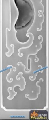 桌子001-祥瑞花纹-013-桌子雕刻灰度图
